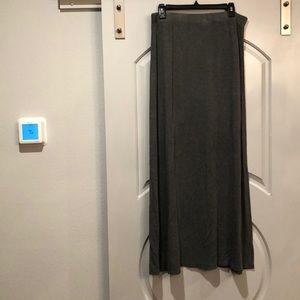 Victoria's Secret gray jersey maxi skirt. GUC!